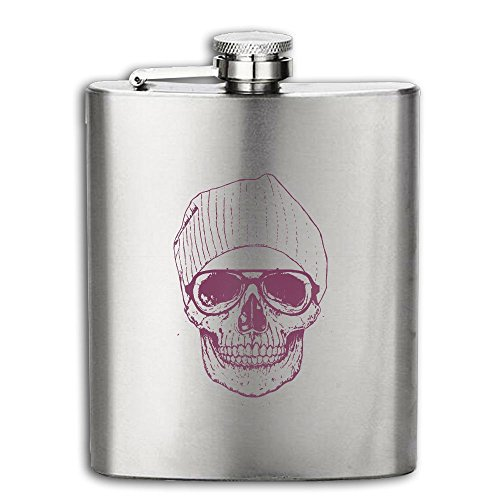 Costume Contest The Office Quotes (Cool-skull Flasks Stainless Steel Liquor Flagon Retro Rum Whiskey AlcoholPocket Flask Liquor Flagon Retro Rum Whiskey Flask Great Gift 7OZ Lightweight)
