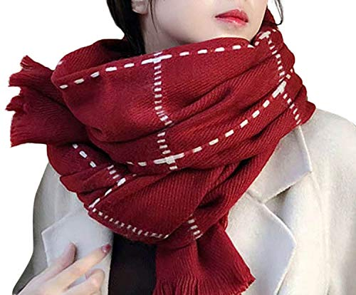 (Cute Stitch Warm Scarf,Lightweight soft cozy scarves for girl)