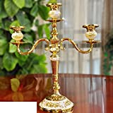 Wang's European-Style Dinner by Candlelight Candlestick Table Candlestick Ornaments-M