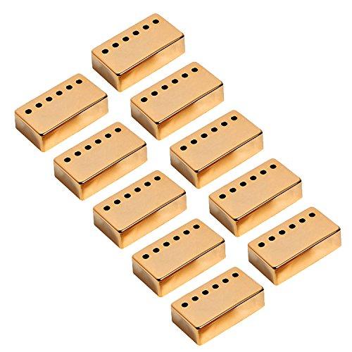 Kmise A7539 高品質ゴールドギターピックアップネック&ブリッジカバー Gibson Lp 交換用 5セット   B00S61OJNE