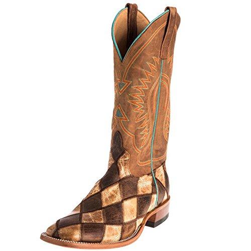 - HORSE POWER Mens Crazy Train Patchwork Cowboy Boots 9.5 D(M) US Honey Crazy Horse