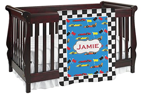 Checkers & Racecars Baby Blanket (Single Sided) - Set Crib Race Car Bedding