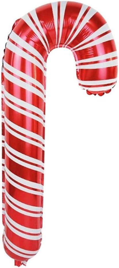 NUOLUX 2Pcs Cannes de Bonbon Gonflables de No/ël D/écorations de Canne /à Sucre de F/ête de No/ël Souffler des Ballons en Aluminium de Vacances pour Les D/écorations de Jardin Ext/érieur de