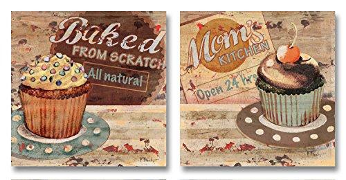 vintage dessert poster