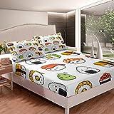 Sushi Pattern Bedding Set Japanese-Style Bed