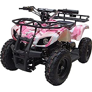 Outdoor Kids Children Sonora 24V Pink Mini Quad ATV Dirt Motor Bike Electric Battery Powered