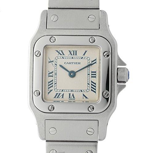 Cartier Santos de Cartier quartz womens Watch 1565 (Certified Pre-owned)