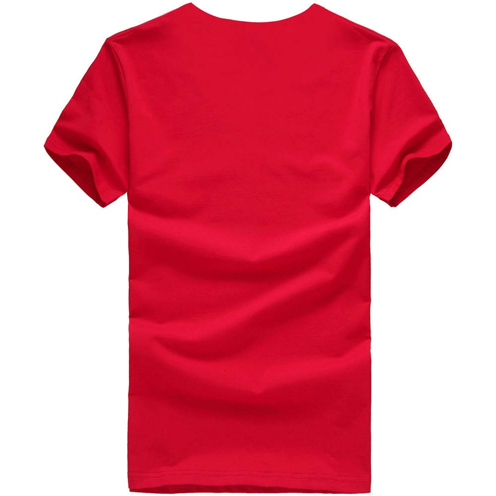 JKRED Fashion Mens Womens Christmas Unisex Printing Tees Shirt Short Sleeve T Shirt Blouse Women Christmas T Shirt Blouse