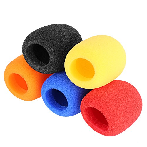 neewerr-5-pack-foam-ball-type-handheld-microphone-windscreen-for-ktv-dance-ball-conference-room-news