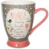 Bloom Pavilion Gift Company 74038 Nurse Ceramic Mug, 16-Ounce 5-Inch, Multicolored