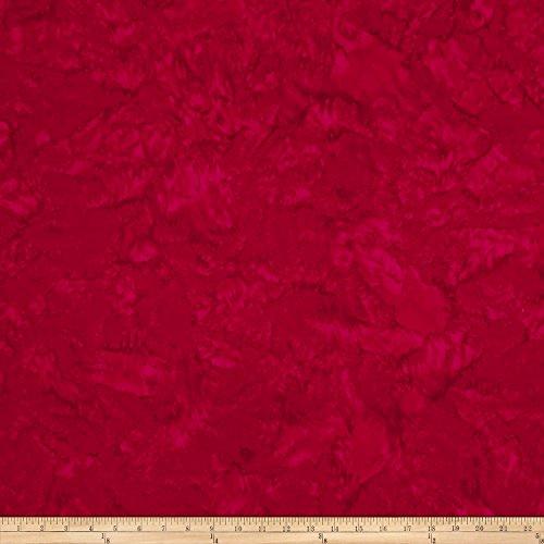 Hoffman Fabrics Hoffman Bali Batik Watercolors Cardinal Fabric By The - Batik Christmas
