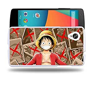 Case88 Designs One Piece Luffy Protective Snap-on Hard Back Case Cover for LG Nexus 5 by supermalls