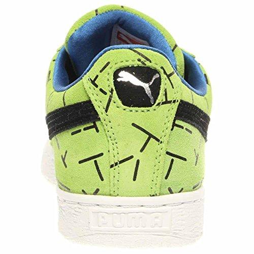 Puma Classique 1993 La Liste Hommes Bout Rond En Daim Sneakers Vert