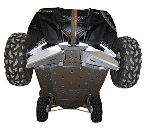 Polaris RZR-4 900 Aluminum 11 Piece Full frame skid plate set front & rear A-Arm/CV Boot Guards Rock Sliders with footwell protection by Ricochet For 2012, 2013, 2014, Models