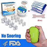 2018 SILVERNET Anti Snore Devices Nasal Dilator 8Pcs Snoring Relief Nose Vents Anti-Snoring Aid Stop Snoring Breathe Right Nasal Strips 10Pcs for Better Sleep