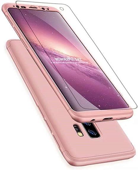 Funda Samsung Galaxy J7 MAX Ttimao PC Hard Case [Película de Cristal Templada] Anti-Shock Ultrafino 360 ° Caja Protección Tres en Uno Cubierta Protectora (Oro Rosa): Amazon.es: Electrónica
