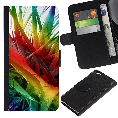 Funny Phone Case // Cuir Portefeuille Housse de protection Étui Leather Wallet Protective Case pour Apple Iphone 6 /Résumé Couleurs 2/