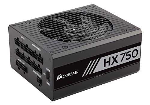CORSAIR HX Series, HX750, 750 Watt, 80+ Platinum Certified, Fully Modular Power Supply (1 X 8 Pin Atx 12v Power Connector)