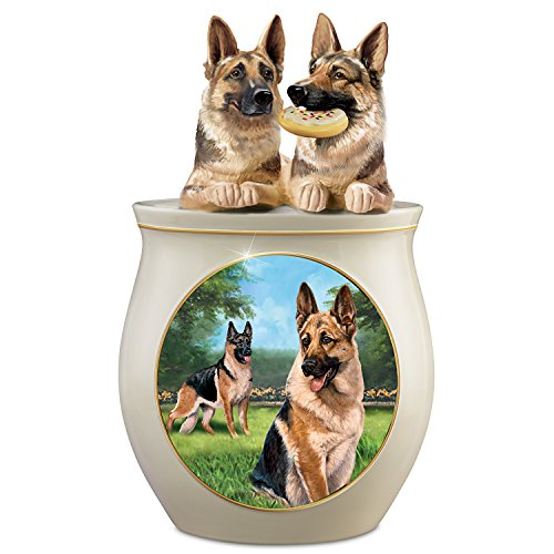 - Linda Picken German Shepherd Art Ceramic Cookie Jar from Bradford Exchange