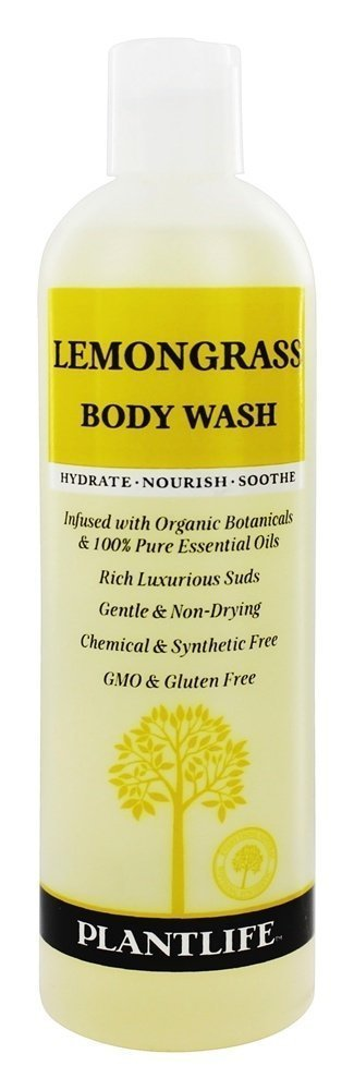Lemongrass Body Wash (or Shower Gel)- 14 fl oz- made with organic ingredients and 100% Pure Essential Oils