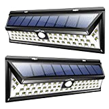 LITOM Solar Lights Outdoor, 54 LED Super Bright Wide Angle Motion Sensor Lights, Wireless Waterproof Security Solar Light for Front Door, Yard, Garage, Deck, Porch, Shed, Walkway, Fence (2 Pack)
