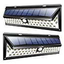 Litom Solar Lights Outdoor 54 LED, Super Bright Wide Angle Solar Powered Light, Wireless Security Waterproof Wall Lights for Garage Patio Garden Driveway Yard RV (2 Pack)