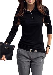 Cromoncent Womens V-Neck Fringe Long Sleeve Tops Tees Blouse T-Shirts