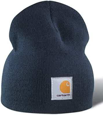 Carhartt Acrylic Knit Beanie - Navy A205NVY Mens Winter Beanie Ski Hat ea50a167890c
