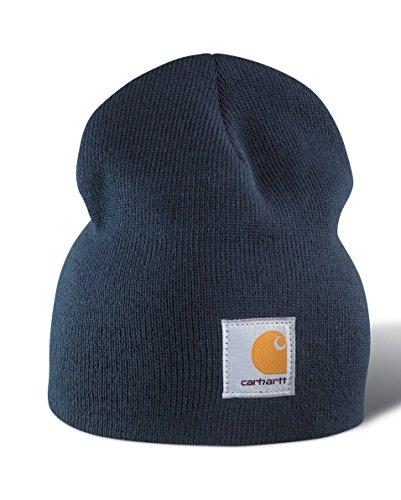 Acrílico Gorra Punto Logotipo Gorro Carhartt Beanie Marino de Cap Azul CHA205NVY 78n46wq