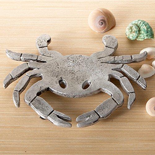 - Crab Trivet Coastal Beach Kitchen Hot Pad, Textured Aluminum, 8