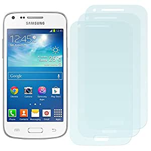 3 x Filmex Protector de Pantalla para Samsung Galaxy Core Plus (G3500) - Transparente, Japón PET de primera calidad, Kit de instalación, Garantía permanente