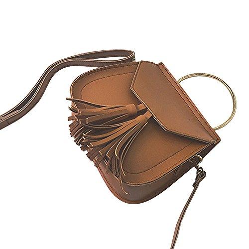 Hot Sales!! Tassel Bag,ZOMUSA Small Vintage Handbag Messenger PU Leather Shoulder Bags - Toryburch Sale