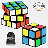 Ztacking Speed Cube Set, Magic Cube Set of 3x3 2x2 Bundle with Cube Smooth Puzzle Cube Stickerless Magic Cube Toys for Kids and Adults (New Version)