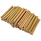 Natural Bamboo Sticks - 100-Pack Bamboo Stakes Craft Supplies, for Crafts and DIY, Natural-Colored Bamboo, 5.2 inches Long and 0.26-0.37 inches Thick