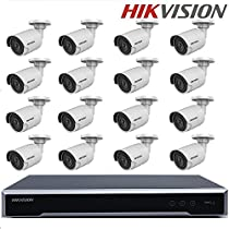 Hikvision CCTV Kits NVR DS-7616NI-K2/16P English version 2SATA 16 POE ports 4K NVR + DS-2CD2035FWD-I 3MP H.265 IP Camera Bullet IR Camera POE security + Seagate 4TB HDD (16 Channel + 16 Camera, 3MP)