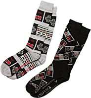 Nintendo mens Nintendo 2 Pack Crew Socks