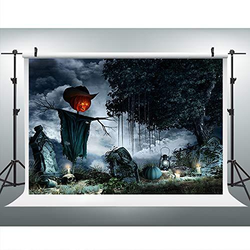 Maijoeyy 7x5ft Halloween Spooky Photography Backdrops Pumpkin Bogy Photo Backdrop Background Studio Prop YZC-HJ02391-D1