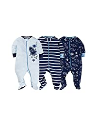 Gerber Baby Boys' 3-Pack Footed Coveralls