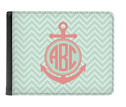 Anchor Chevron Personalized amp; Leather Genuine Men's Wallet Bi fold x85r8w