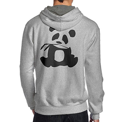 Zombie Flo Costume (SBPZEB Panda Is My Sprit Animal Sport Men's Hooded Sweatshirt L Ash)