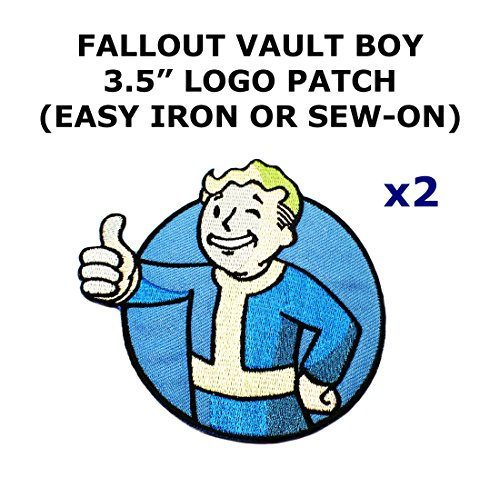 2 PCS Fallout Vault Boy Video Game Theme DIY Iron / Sew-on Decorative Applique (Fallout Diy)