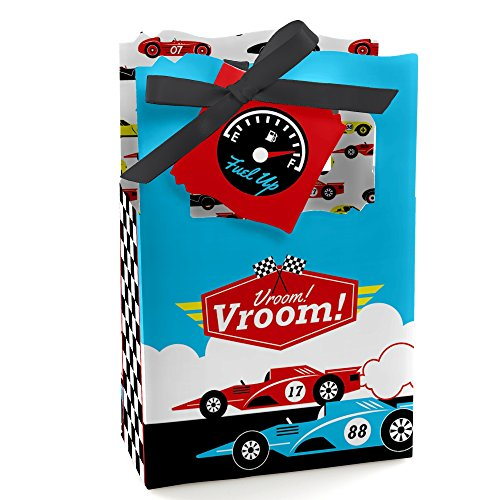 Let's Go Racing - Racecar - Baby Shower or Race Car Birthday Party Favor Boxes - Set of 12 (Race Boxes Favor Car)