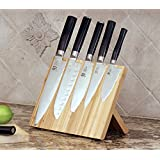 Bamboo Magnetic KNIFEdock - This magnetic knife block has revolutionized storing and displaying your knifes. It displays your knifes both elegantly, and safely. This KNIFEdock keeps your knifes close at hand ensuring unparalleled ease of use.