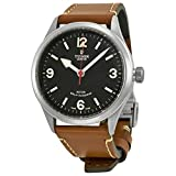 Tudor Heritage Ranger Automatic Black Dial Brown Leather Mens Watch 79911-BKASBRLS