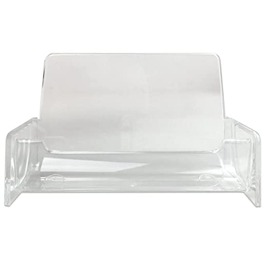 Amazon business card holder display stand desk quantity 1 amazon business card holder display stand desk quantity 1 piece count clear office products colourmoves