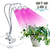 Cheap Haodude Three-Head LED Plant Growth Desk Lamp, 28W Full Spectrum Plant Grow Light with 360 Degree Flexible Arms, Hydroponic Aquatic Indoor Plants,Spring Clamp Plant Desk Light