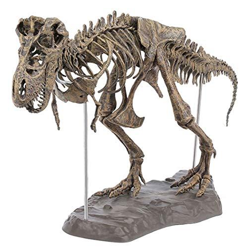 PANRODO Dinosaur Sculptures Statue PVC Vivid Stylish Living Room Decor Tyrannosaurus Skeleton Figurines