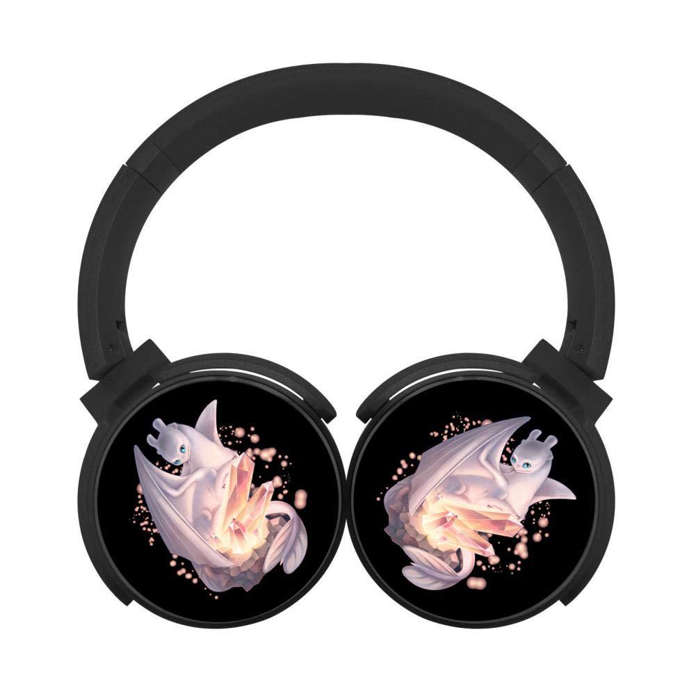 Mobile Wireless Bluetooth Headset Light-Fury & Magic-Crystals 3D Printing Over Ear Headphones Black