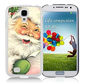 Popular Sell Samsung S4 TPU Protective Skin Cover Santa Claus White Samsung Galaxy S4 i9500 Case 10