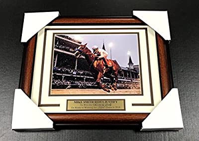 Mike Smith Justify Kentucky Derby Framed 8x10 Steiner Photo 2018 Triple Crown